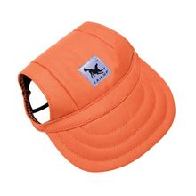 Dog-Hat Baseball-Cap Outdoor-Accessories Ear-Holes Small Summer with Canvas for Pet-Dog