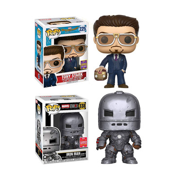 FUNKO POP Marvel Avengers IRON MAN TONY STARK PVC Action Figure Collected Model Toys for Children New Year Gifts F98 the avengers super hero marvel hot toys iron man tony stark 1 20 scale bust deluxe set of 6 with battle damaged mk6 3 pvc