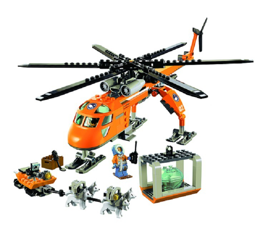 Hot 2017 NEW Bela 10439 273pcsArctic Helicrane CITY Set Helicopter Husky Compatible Legoinglys Building Block Toys For Children