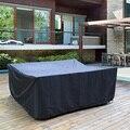 72 größen Schwarz Terrasse Garten Möbel Wasserdichte Abdeckungen Regen Schnee Stuhl abdeckungen für Sofa Tisch Stuhl Staub Proof Abdeckung