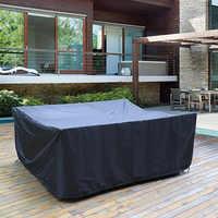 Cubiertas impermeables para muebles de jardín y Patio, para lluvia, nieve, silla, a prueba de polvo, color negro, 72 tamaños