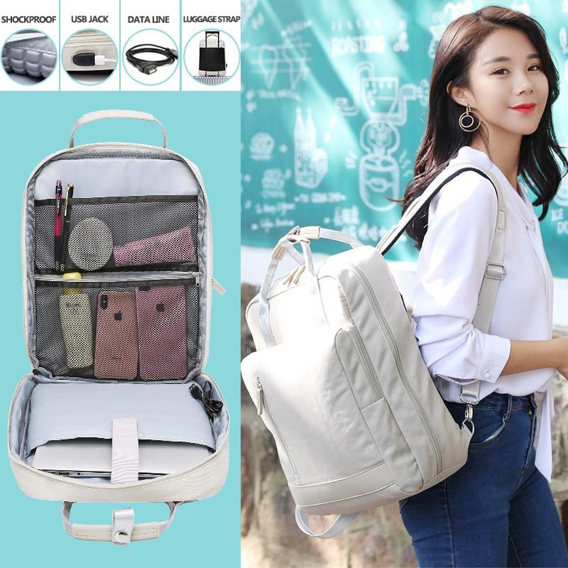 IKE MARTI Women's Backpack Daypack School Bag Fashion Sac A Dos Femme 2021 Man Waterproof Charging 15.6 Inch Laptop Backpack|Backpacks| - AliExpress