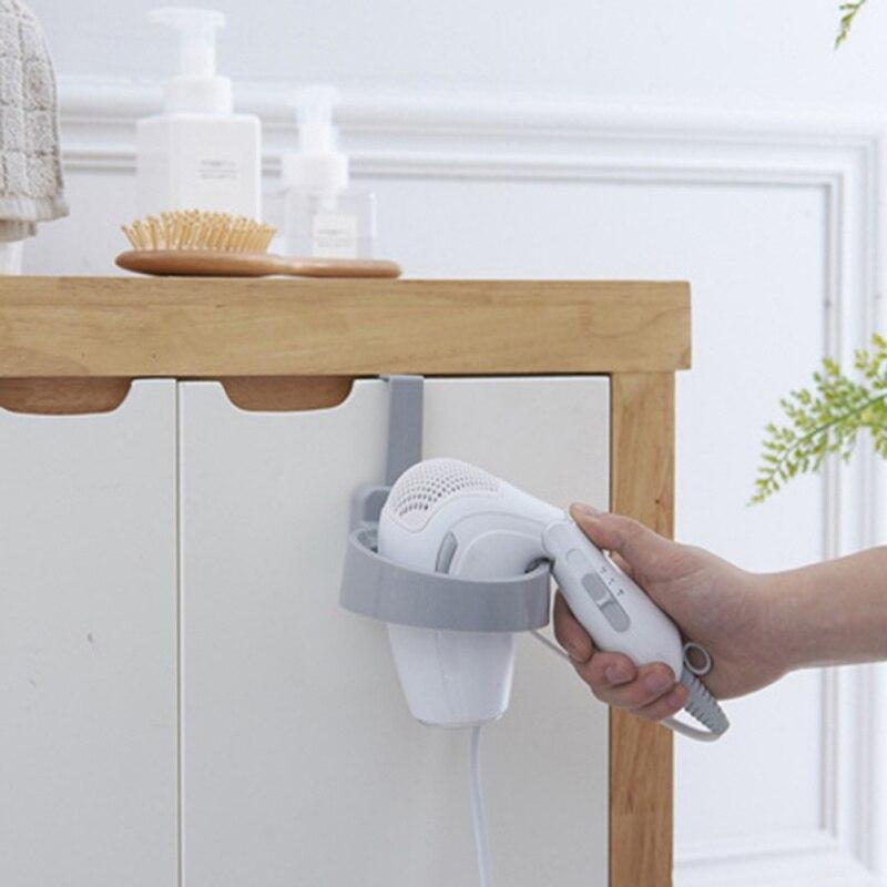 Фен стеллаж для хранения шкафчик с дверцей, держатель для волос, настенный держатель для ванной комнаты, полка для хранения X - 4