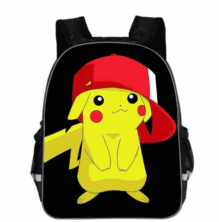 13 Inch New Pokemon Cartoon Go School Bag For Teenager Boys Girls Kids Personized Schoolbag Children Hot Game Backpack