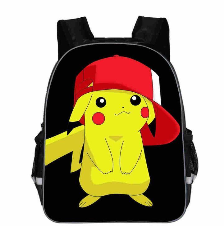13 Inch New Pokemon Cartoon Go School Bag For Teenager Boys Girls Kids Personized Schoolbag Children Hot Game Backpack