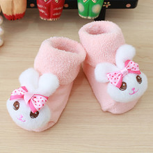 Cartoon Newborn Kids Baby Girls Boys Anti-Slip Warm Socks Slipper Shoes