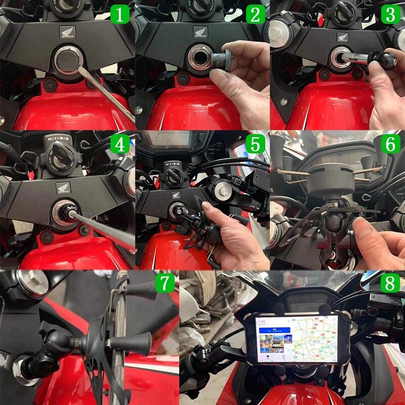 GZYF para Kawasaki Z1000 2014 2015 2016 Soporte para matr/ícula de motocicleta color negro