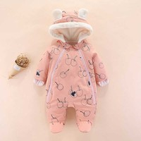 Baby Winter Clothes For Baby Girls Overall Warm Long Sleeve Newborn Costume Baby Romper For Baby Boys Jumpsuit Infant Clothing