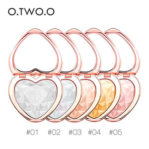 O.TWO.O 5pcs Shimmer Highlighter Powder Makeup Set Heart Shape Face Glow Body Glitter Iluminador Palette Cosmetics Kit
