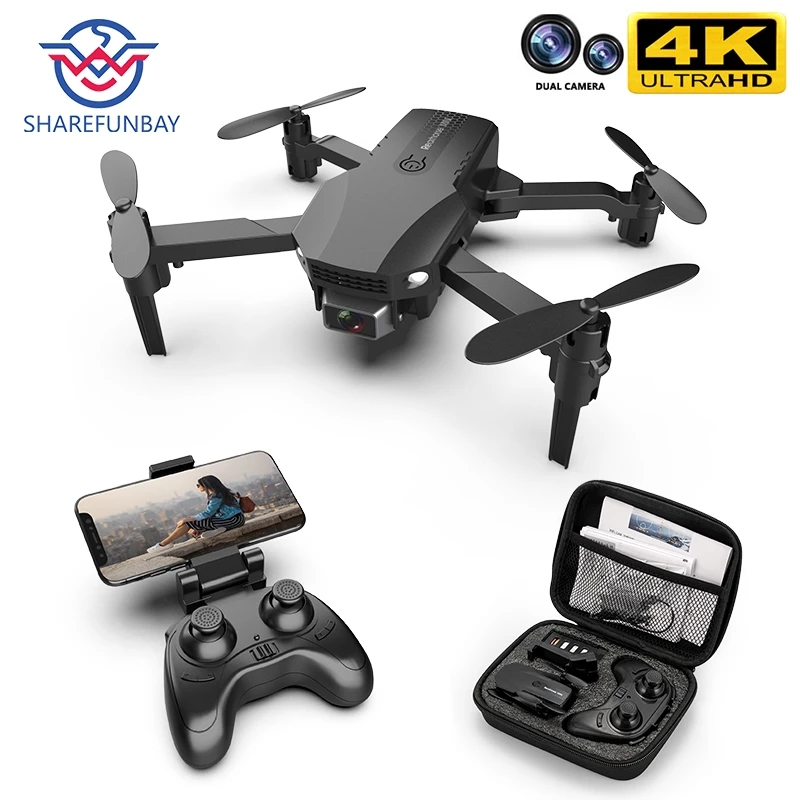 Permalink to New R16 drone 4k HD dual lens mini drone WiFi 1080p real-time transmission FPV drone follow me Foldable RC Quadcopter toy