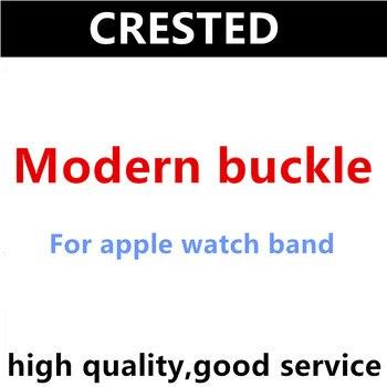 Correa de Hebilla moderna CRESTED para Apple Watch band 5 4 3 iwatch correa de 42mm/38mm 44mm/40mm correa de cuero accesorios de reloj
