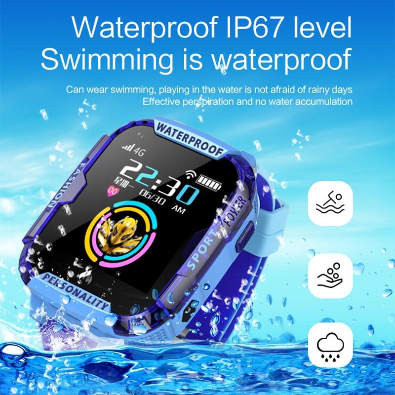 Greentiger GPS Wifi SOS 4G Smart Watch Baby IP67 waterproof Camera position Tracker Kids Smartwatch Boys Girl VS A36E Q90