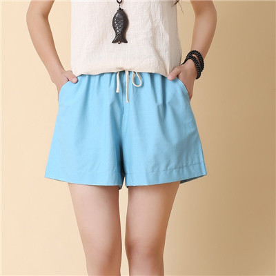 Women's Summer Thin Section Cotton Is Not Curled Outside Wearing Loose Shorts