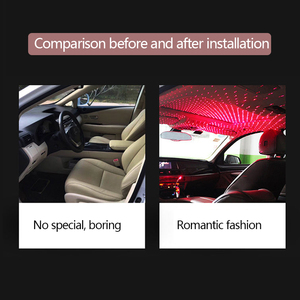 Image 5 - Car Atmosphere Lights Starry Light Interior Car Roof Star Lamp Red Ambient Light Assembly Decor USB Mini Laser Auto Electronic