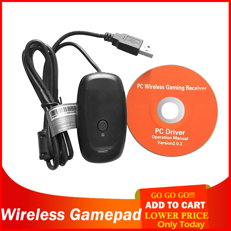 ALLOET <font><b>Wireless</b></font> Gamepad <font><b>PC</b></font> <font><b>Adapter</b></font> <font><b>Controller</b></font> <font><b>Gaming</b></font> <font><b>USB</b></font> <font><b>Receiver</b></font> <font><b>Wireless</b></font> <font><b>Controllers</b></font> for Xbox 360 Console with CD hot sale image