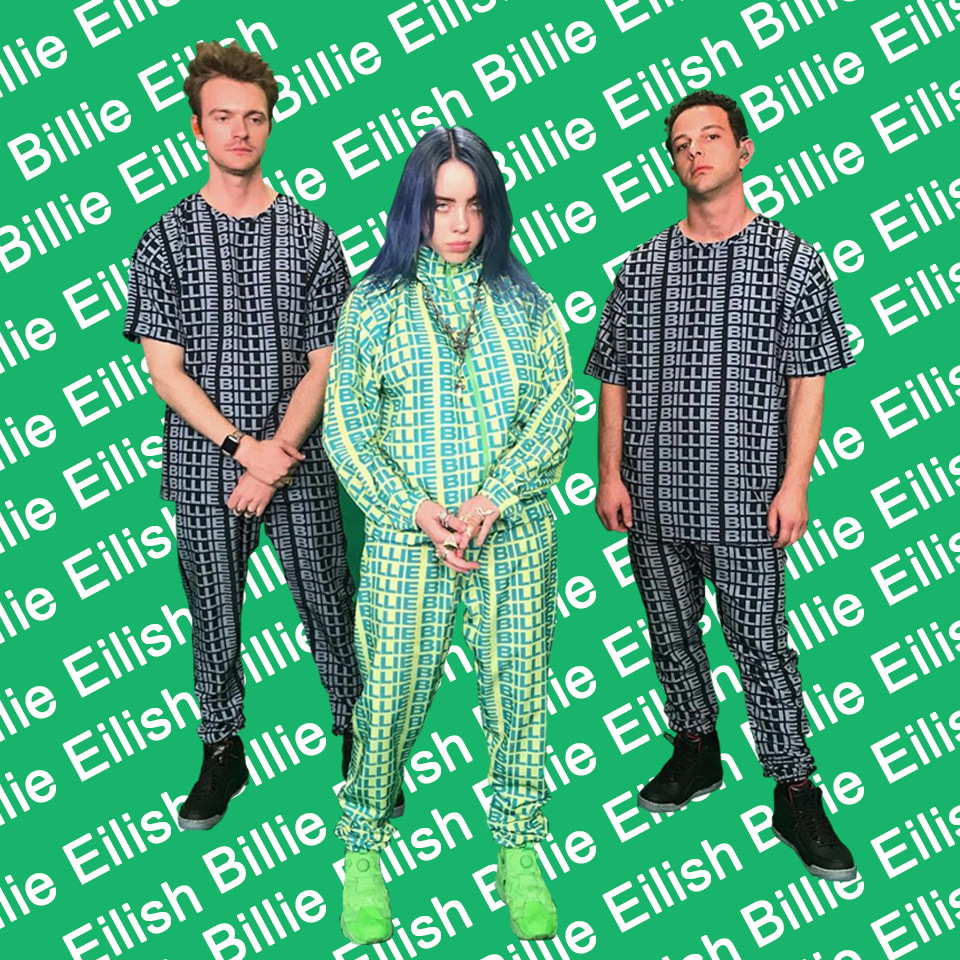 Image 2 - Kpop Clothes Billie Eilish Green Hoodie Sweatshirt Pants Tees Woman Streetwear Bad Guy 3D Print New Letter Coat Tops Tshirt Suit-in Women's Sets from Women's Clothing