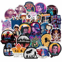 50pcs Pack Stranger Things Stickers Waterproof PVC Guitar Skateboard Travel Suitcase Snowboard Motorcycle Laptop Sticker DIY Toy