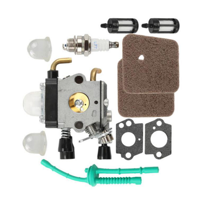 Fuel Line <font><b>Carburetor</b></font> kit Gaskets <font><b>For</b></font> <font><b>STIHL</b></font> <font><b>FS38</b></font> <font><b>FS45</b></font> FS46 FS55 Spark Plug Air Filters Convenient Practical image