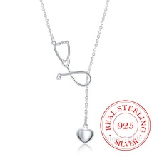 2020 Vintage Bijoux Luxury Doctor Stethoscope Statement Pendant Necklace for Wom