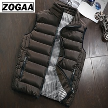 Mens Vest and Coat Plug Cotton Winter Warm Couple Slim Fit Jacket Casual ZOGAA