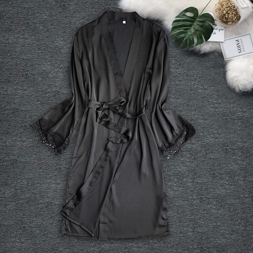 Women Sexy Satin Night Dress Silk Sleepwear Pajamas Nightdress Lingerie Night Dress Fashion Ladies Sexy Sleepwear Nightwear