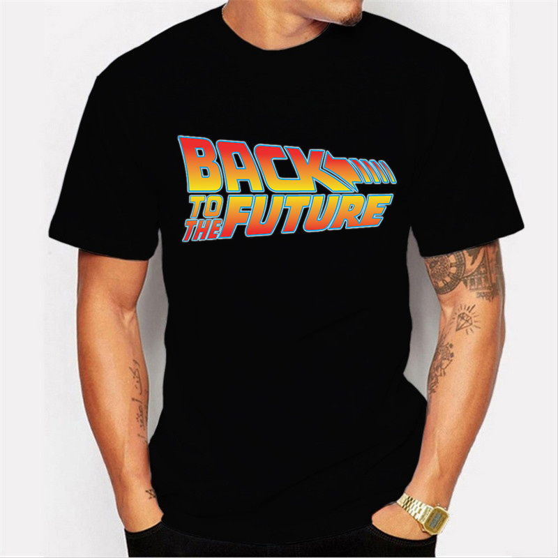 2020 Back To The Future Tshirt Black T-Shirt Men T Shirt Boys Summer Short Sleeve Shirt Oversized T Shirt Blusas Mujer De Moda