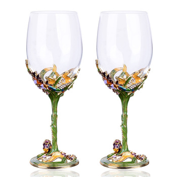 Enamel red wine glasses crystal glass cups and mugs high grade wine cup creative drinkware