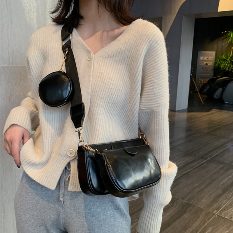 Fashion Three In One Handbags Designer Shoulder Bags Luxury Pu Leather Messenger Crossbody Bag Cusual Small Purse 3 Bag Set 2020