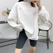 Pants Leggings Shorts Women's Summer Cotton Thread Mickey-Print Solid-Color Casual Five-Point