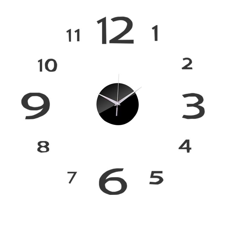 3D Wall Clock Acrylic Mirror Wall Stickers Modern DIY Wall Clocks Home Decor Living Room Quartz Needle reloj de pared 2020 NEW 21
