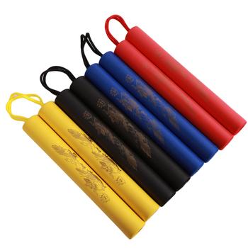 Produkty do sztuk walki gąbka piankowa Shuangjieao sprzęt do sztuk walki trening Nunchucks trening sztuk walki tanie i dobre opinie Foam Cotton CN (pochodzenie) 2-4 lat Unisex Stick Length 25cm Rope Length 14cm Diameter Width 3 2cm Cudgel hammer keep away from fire