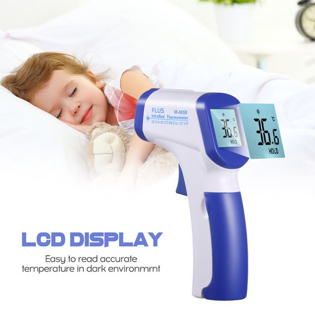 Infrared thermometer digital ear forehead mini temperature meter instrument for baby, child and adult