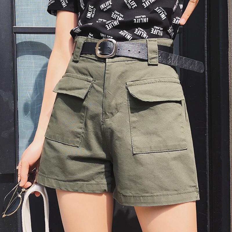Summer Denim Shorts Women's White Shorts Jeans High Waist Shorts Women Gym Wide Leg Causal Jeans Shorts Knee Length Short Female