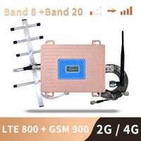 3g 4g europa impulsionador de sinal lte 800 gsm 900 mhz repetidor de sinal celular 2g 3g 4g banda dupla amplificador lte 20 banda 8