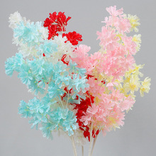 Simulation Lagerstroemia cherry white pole blossom waterfall snow wedding ceiling decoration flower