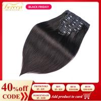 Doreen 160G 200G Brazilian Machine Made Remy Straight Clip In Human Hair Extensions #1 #1B #2 #4 #8 Full Head Set 10Pcs 16 22