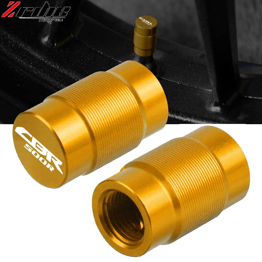 Motorcycle Accessories Wheel Tire Valve caps CNC Airtight cover For HONDA CBR500R CBR 500R CB500F <font><b>CB500X</b></font> <font><b>2013</b></font> 2014 2015-2018 image