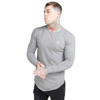 Men Printing Long sleeve T Shirt Men Hip Hop Streetwear Silk Silk Gyms Man's Shirt Fitness Sweatshirt Siksilk Male T-shirt summer 2020 sikh silk men s t shirt silk t shirt o neck short sleeve men s t shirt t shirt sikh silk men s shirt t shirt