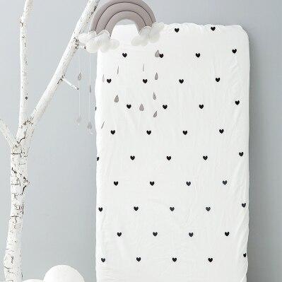 Хлопок, простыня для кроватки, мягкий матрас для детской кровати, защитный чехол, мультяшное постельное белье для новорожденных - Цвет: 10