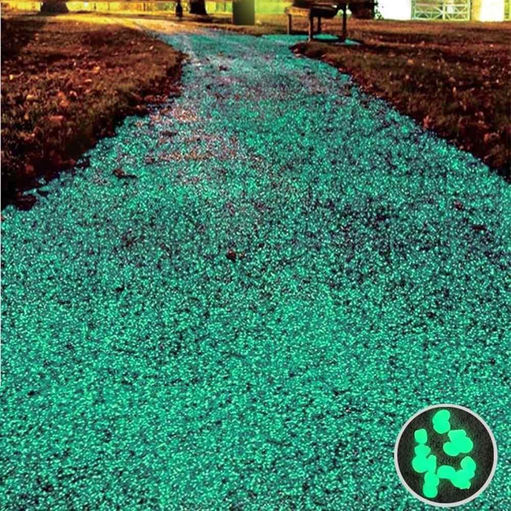 50 個/100 個岩歩道庭パスパティオ芝生ガーデン庭の装飾発光石アクセサリーギフト用