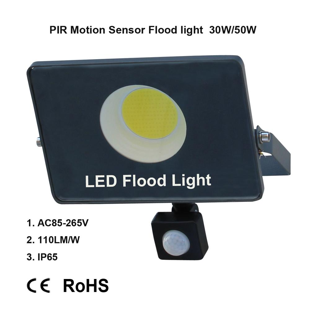 Image 3 - Motion Sensor LED Flood Light IP65 Waterproof 50W 30W 10W Reflector Floodlight Lamp AC 220V foco Led Exterior Outdoor Spot Light-in Floodlights from Lights & Lighting