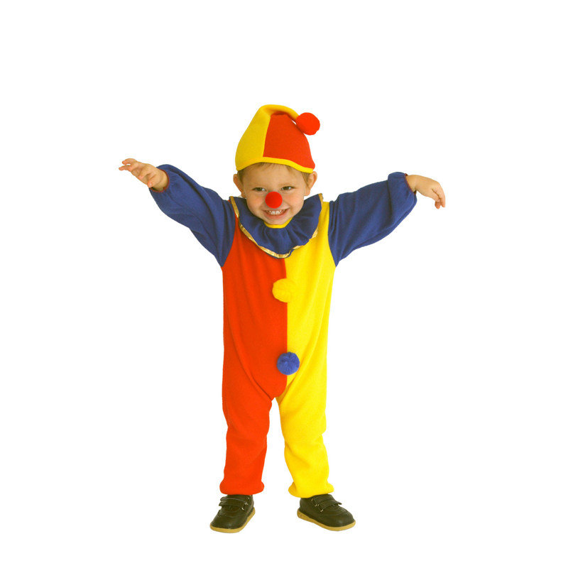 Naughty Haunted House Kids Child Clown Costume for Baby Girls Boys Toddler Halloween Purim Carnival Party Costumes 3