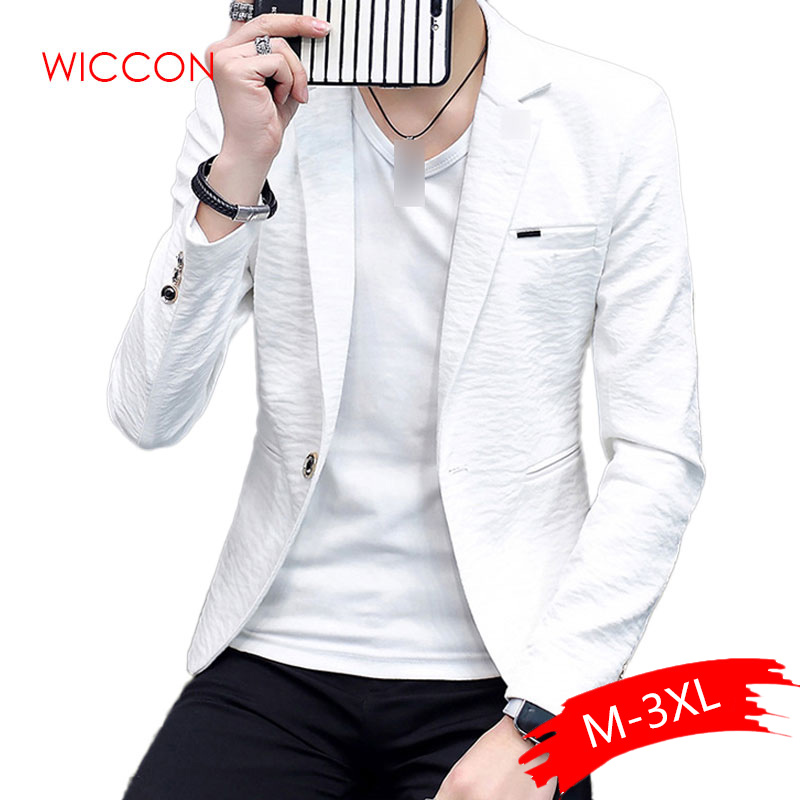 2020 Men's Solid Brand Blazer Male Thin Wild Personality Spring & Summer Solid Color Leisure Blazer