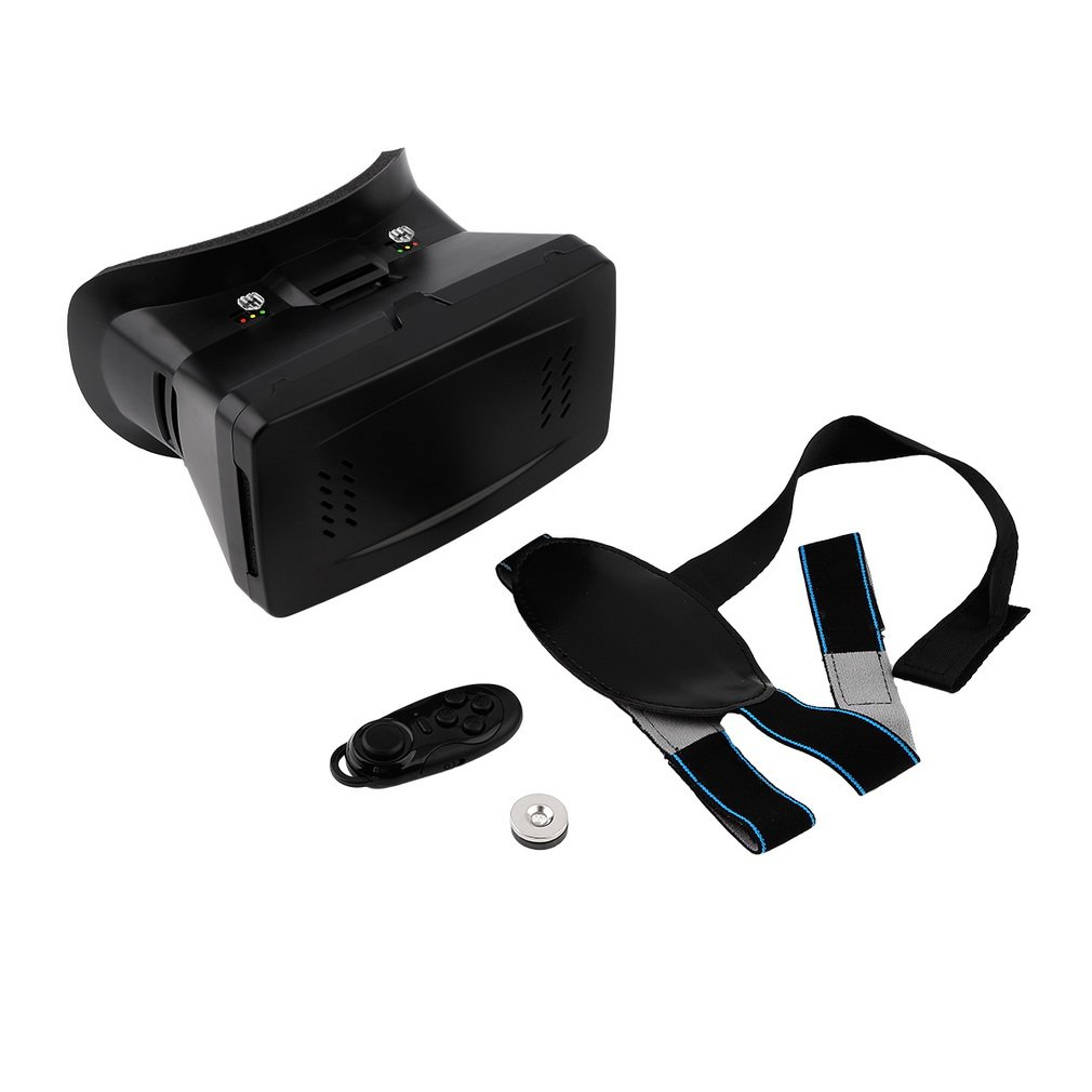 3D Virtual Reality VR Video Glasses Cardboard +Gamepad Control VR Headset Box Goggles Headset Helmet for 3.5-6 inch Smart Phone image