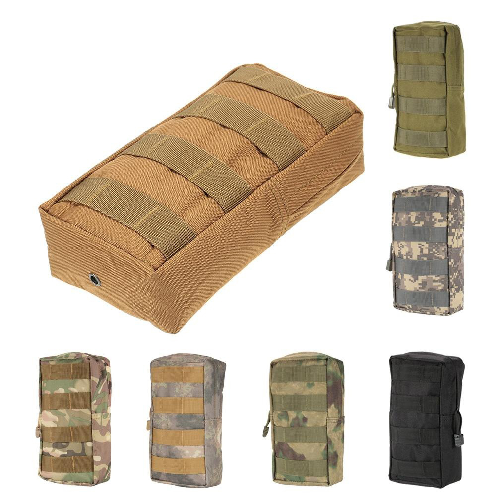 Tactical Molle System Medical Pouch 600D Utility EDC Tool Accessory Waist Pack Phone Case Airsoft Hunting Bag Outdoor Equipment