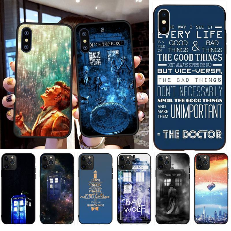 HPCHCJHM Hot Tardis Doctor Dr Who Police Box Phone Case Capa for iPhone 11 pro XS MAX 8 7 6 6S Plus X 5S SE XR case