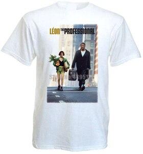 Leon The Professional Movie Poster Мужские футболки в стиле хип-хоп футболка для любителей фильмов ужасов ЛГБТ-футболка крутые вещи Hlixzm