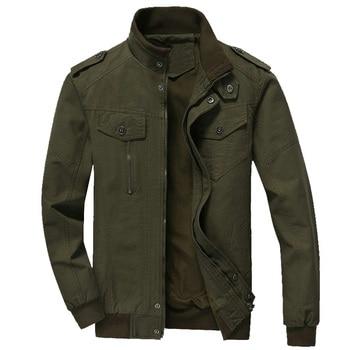 Spring Autumn Bomber Jackets Coats Men Cotton Casual Workout Military Jacket Men