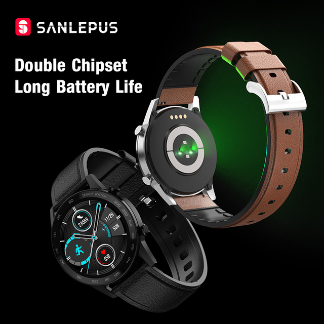 2021 SANLEPUS Smart Watch Bluetooth Call Smartwatch For Men IP68 Waterproof Watches Men's Wristwatch For Huawei Android iPhone 4