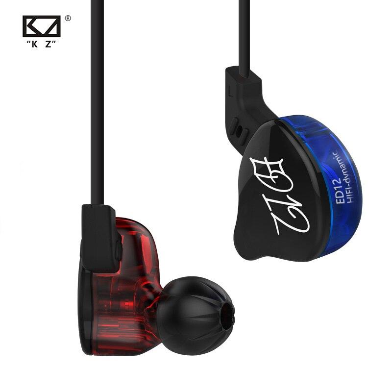 Динамические наушники KZ ED12 с монитором, шумоизоляция, HiFi музыка, спортивные наушники-вкладыши
